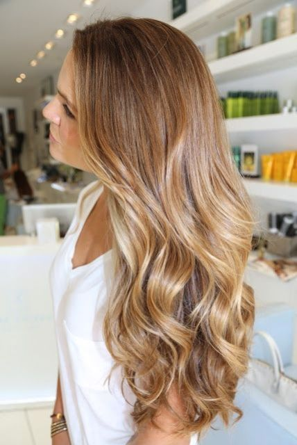 soft caramel hair color