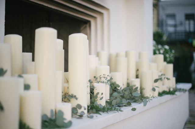 Candles in fireplace | Lauren Carroll Photography