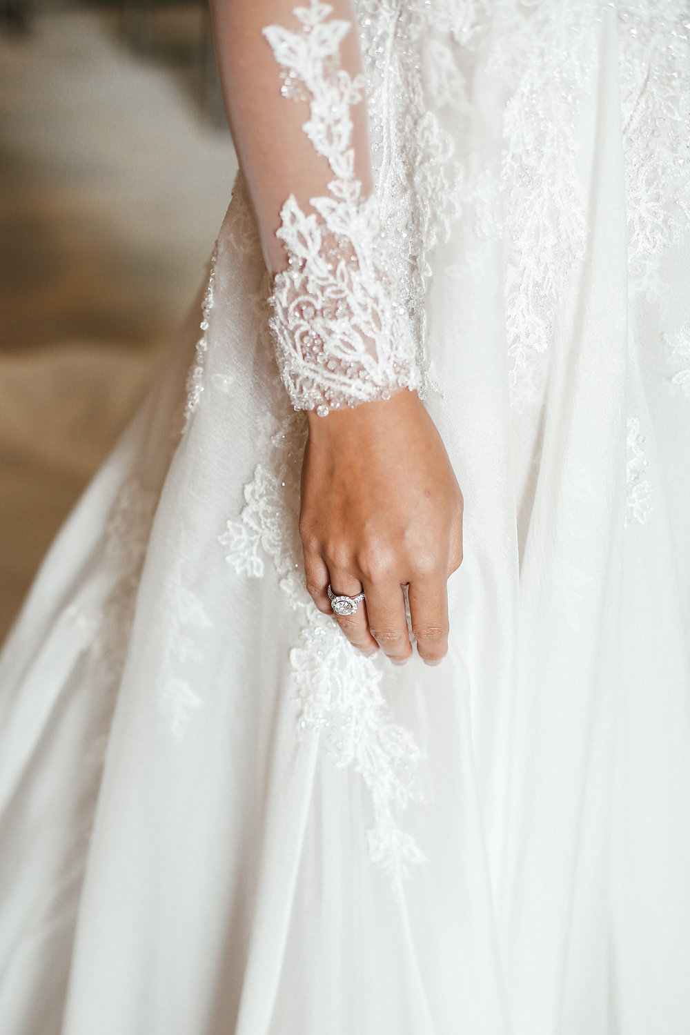 wedding dress lace detail - photo by Lara Hotz http://ruffledblog.com/secret-garden-inspired-australian-wedding