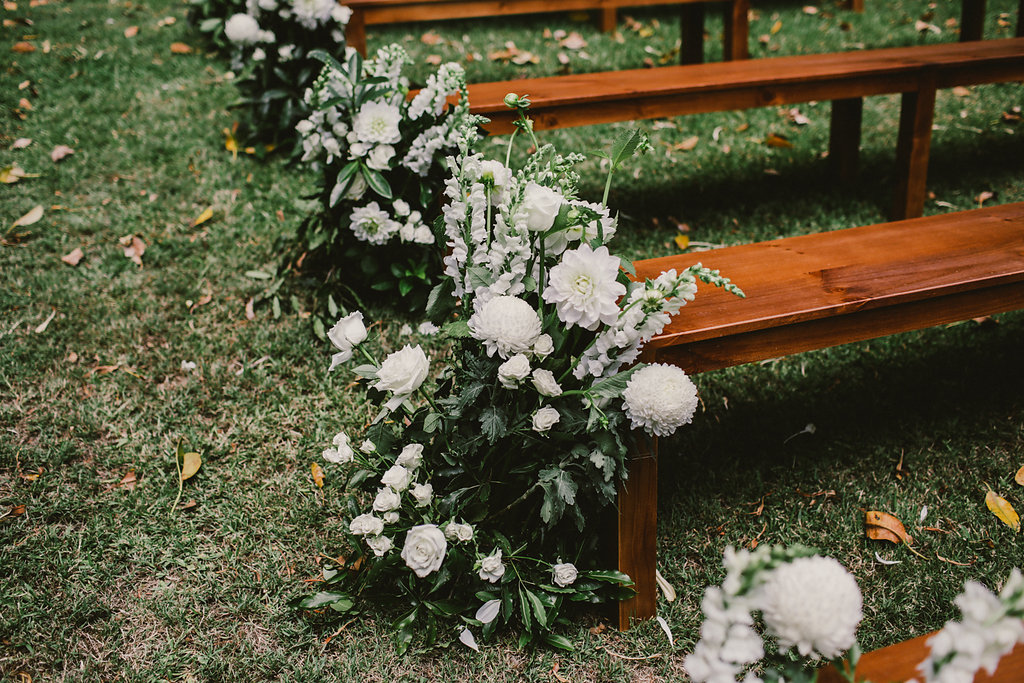 ceremony seating - photo by Lara Hotz http://ruffledblog.com/secret-garden-inspired-australian-wedding