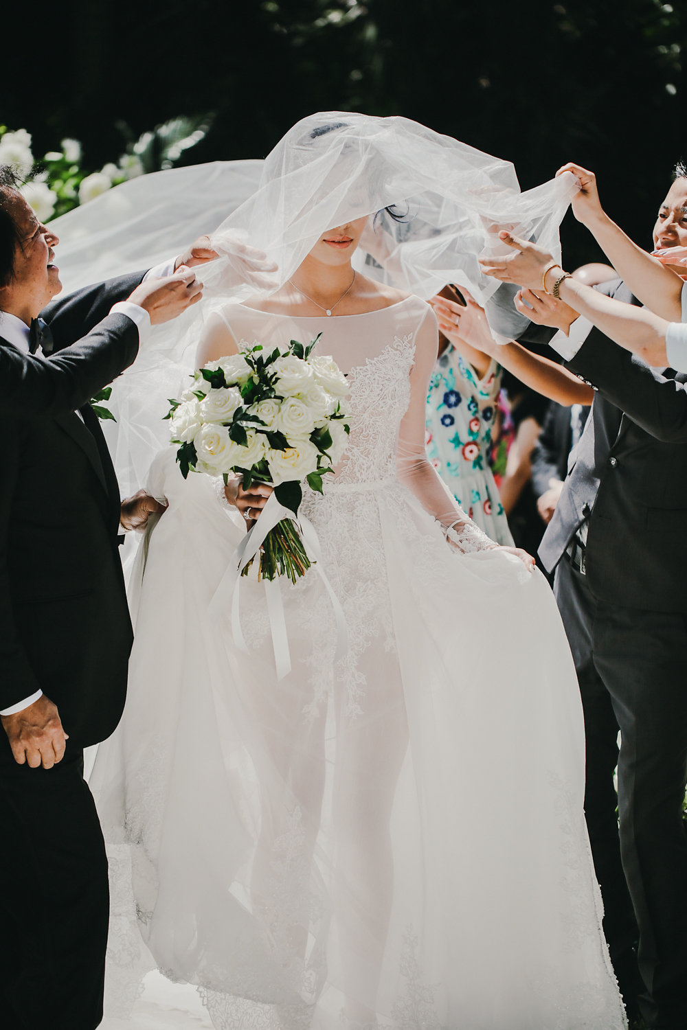bridal processional - photo by Lara Hotz http://ruffledblog.com/secret-garden-inspired-australian-wedding