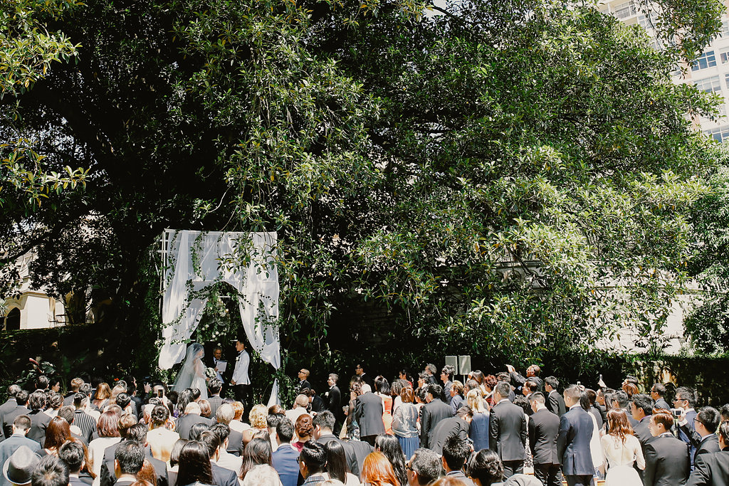 wedding ceremony - photo by Lara Hotz http://ruffledblog.com/secret-garden-inspired-australian-wedding