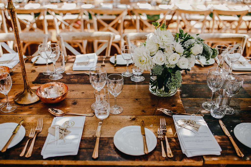 wedding tablescape - photo by Lara Hotz http://ruffledblog.com/secret-garden-inspired-australian-wedding