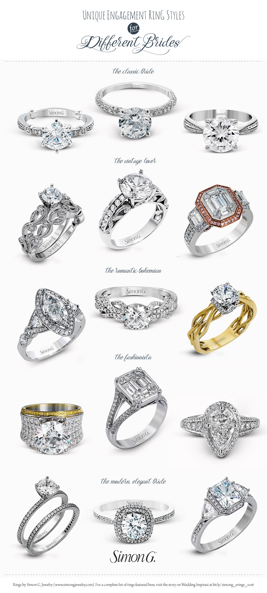 simon g gorgeous engagement rings wedding ring styles diamond halo rose gold vintage unique designs 2017