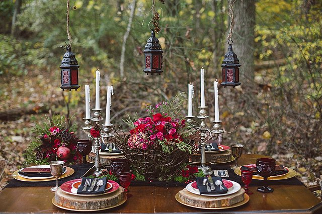 Red and black tablescape | SYPhotography