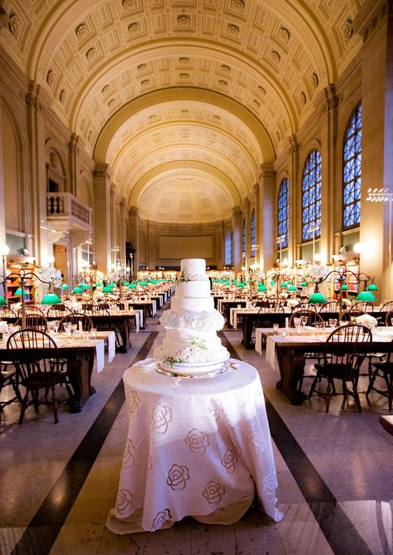 Boston public library is another great place for a wedding