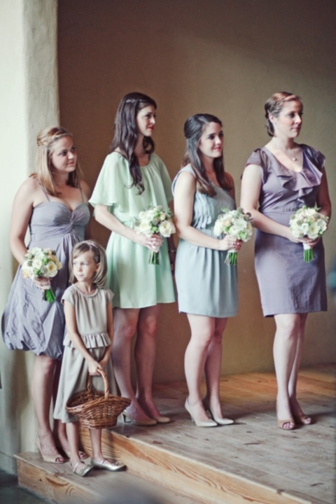 mint and lavender bridesmaids