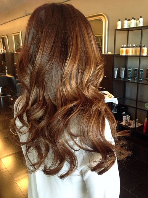 brown hair with honey and chestnut balayage