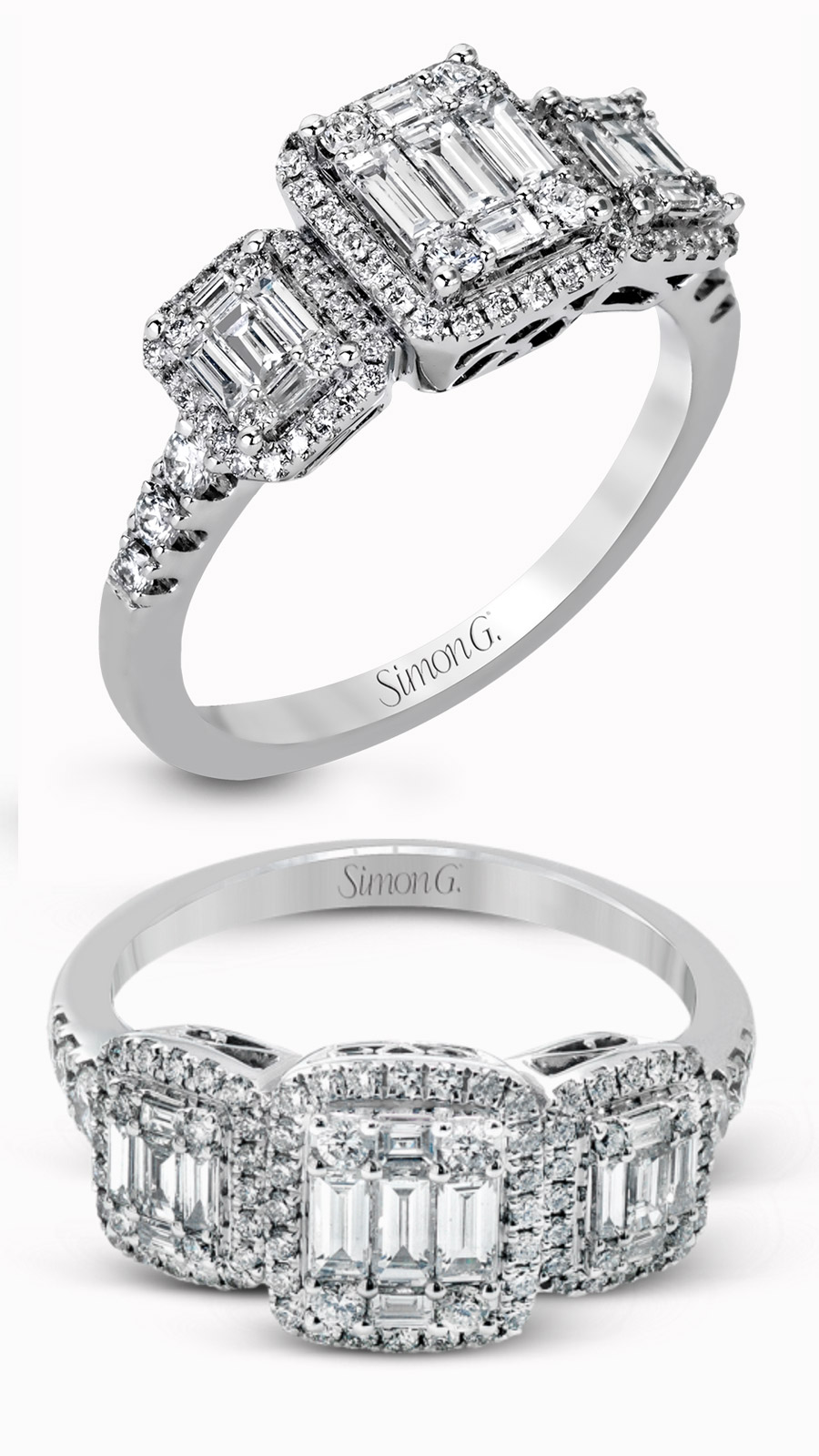 simon g gorgeous diamond engagement ring mr2363 right hand ring baguette diamonds
