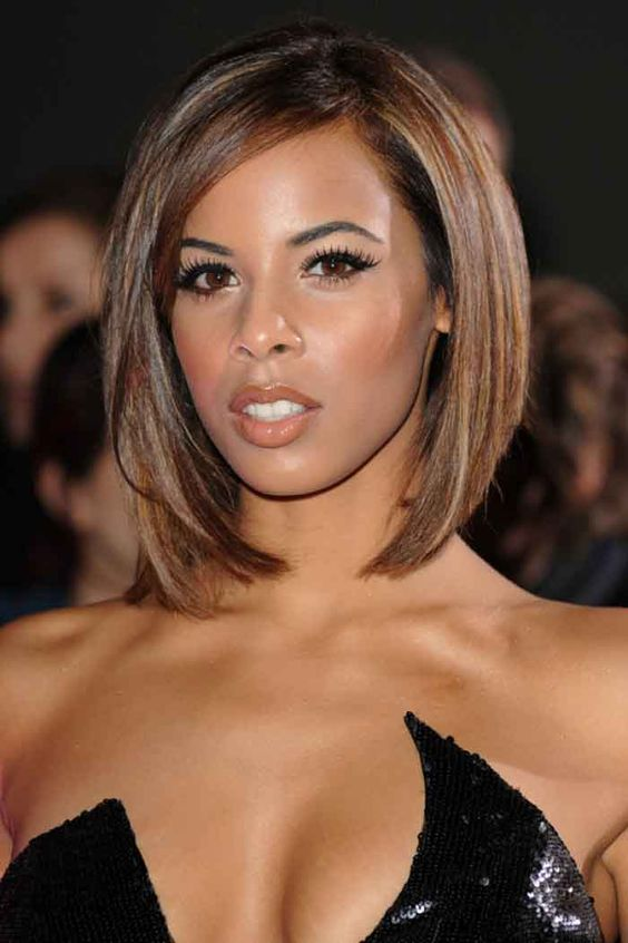 chestnut hair color and bob hairstyle