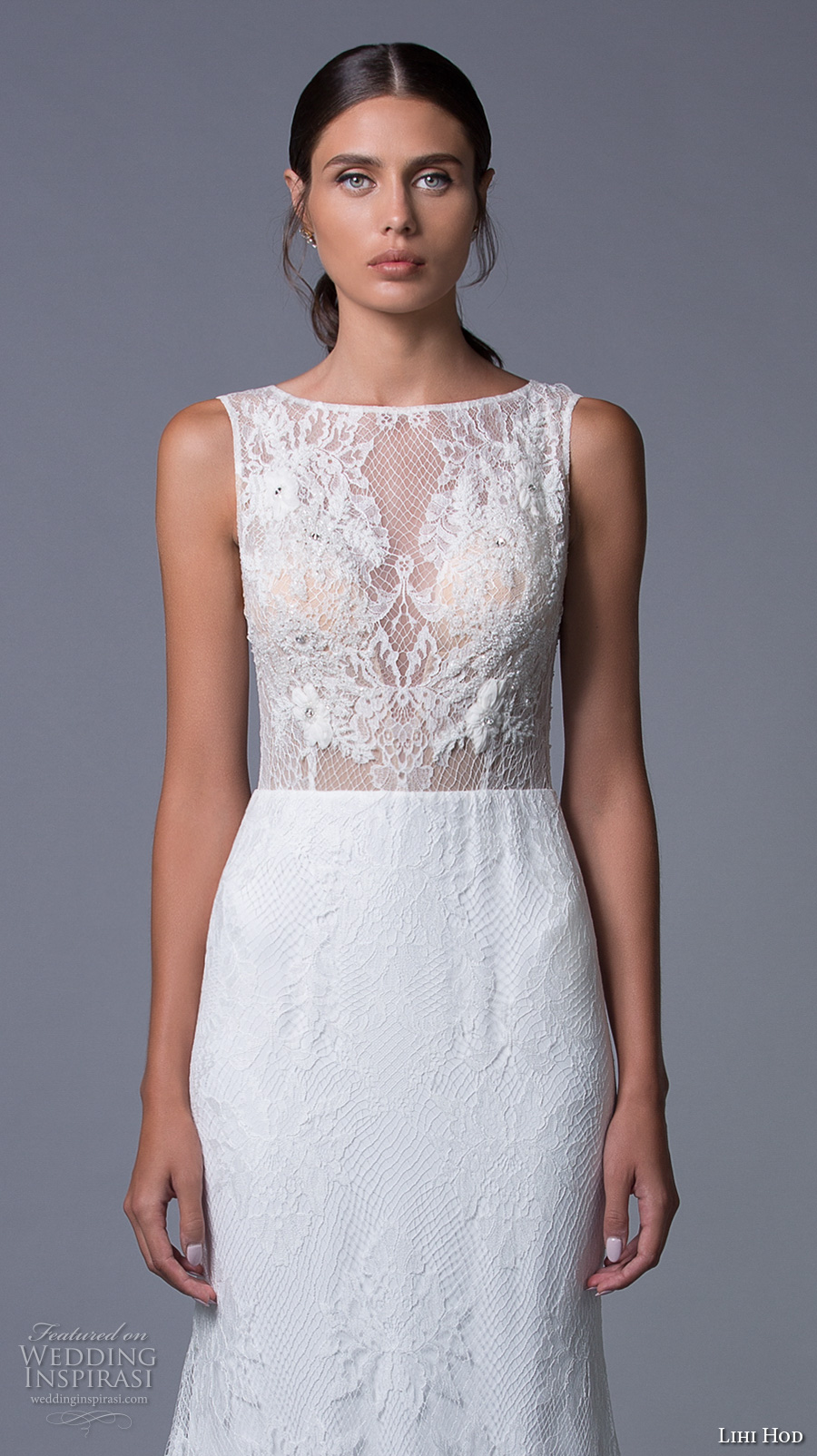 lihi hod 2017 bridal sleeveless bateau neckline heavily embellished bodice sexy elegant a line wedding dress keyhole back sweep train (isabel) zv