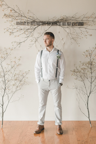 Trendy groom's attire for a New England wedding | About Time Photography