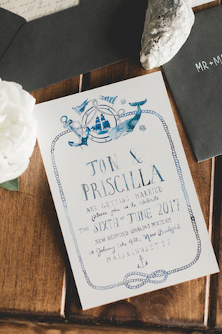 Whaling Museum Massachusetts wedding invites | About Time Photography