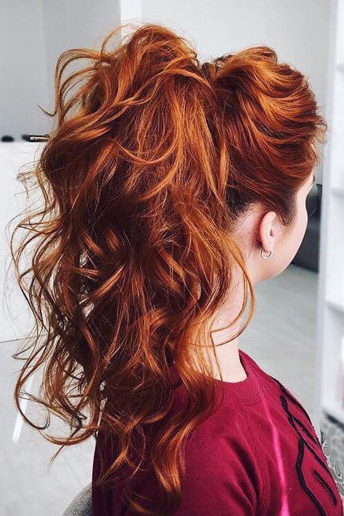 fiery copper hair with lowlights