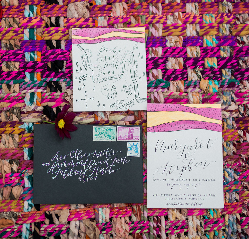 boho wedding invitations - http://ruffledblog.com/nomadic-cliffside-elopement-inspiration