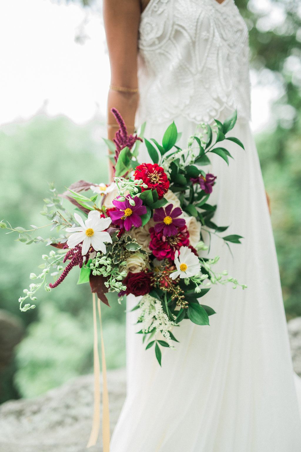 colorful bouquet - http://ruffledblog.com/nomadic-cliffside-elopement-inspiration
