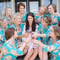 Bridal party robes- Justin Wright Photography