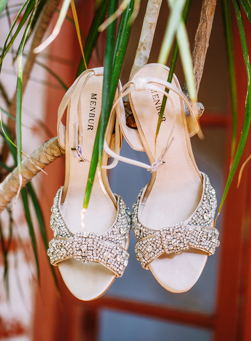 wedding shoes - photo by Priscila Valentina Photography http://ruffledblog.com/blush-pink-wedding-at-carondelet-house