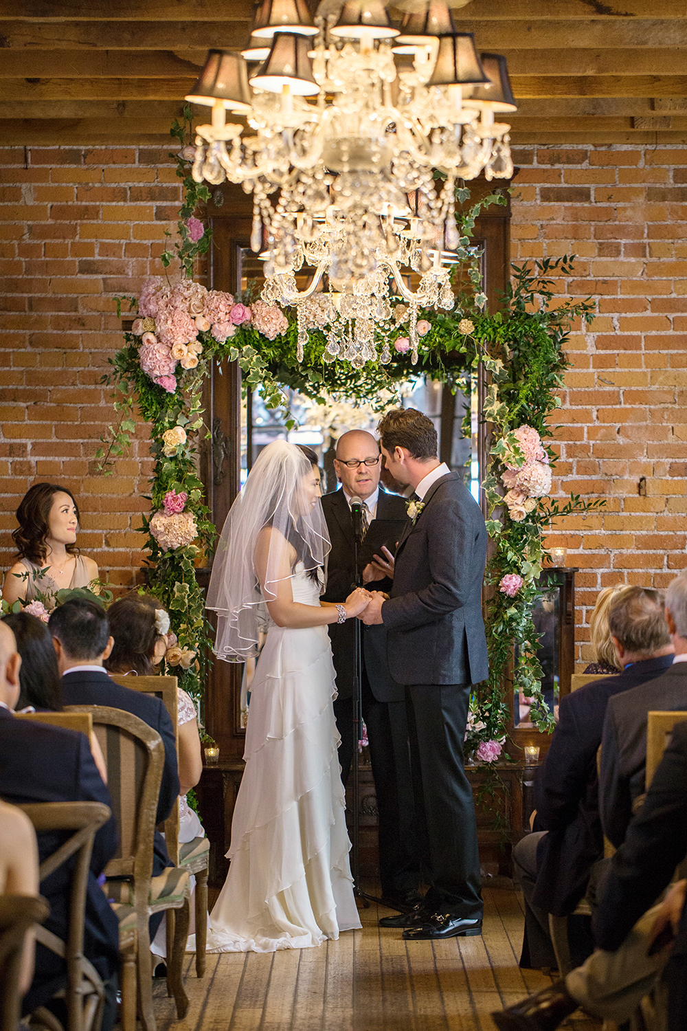 wedding ceremony - photo by Priscila Valentina Photography http://ruffledblog.com/blush-pink-wedding-at-carondelet-house