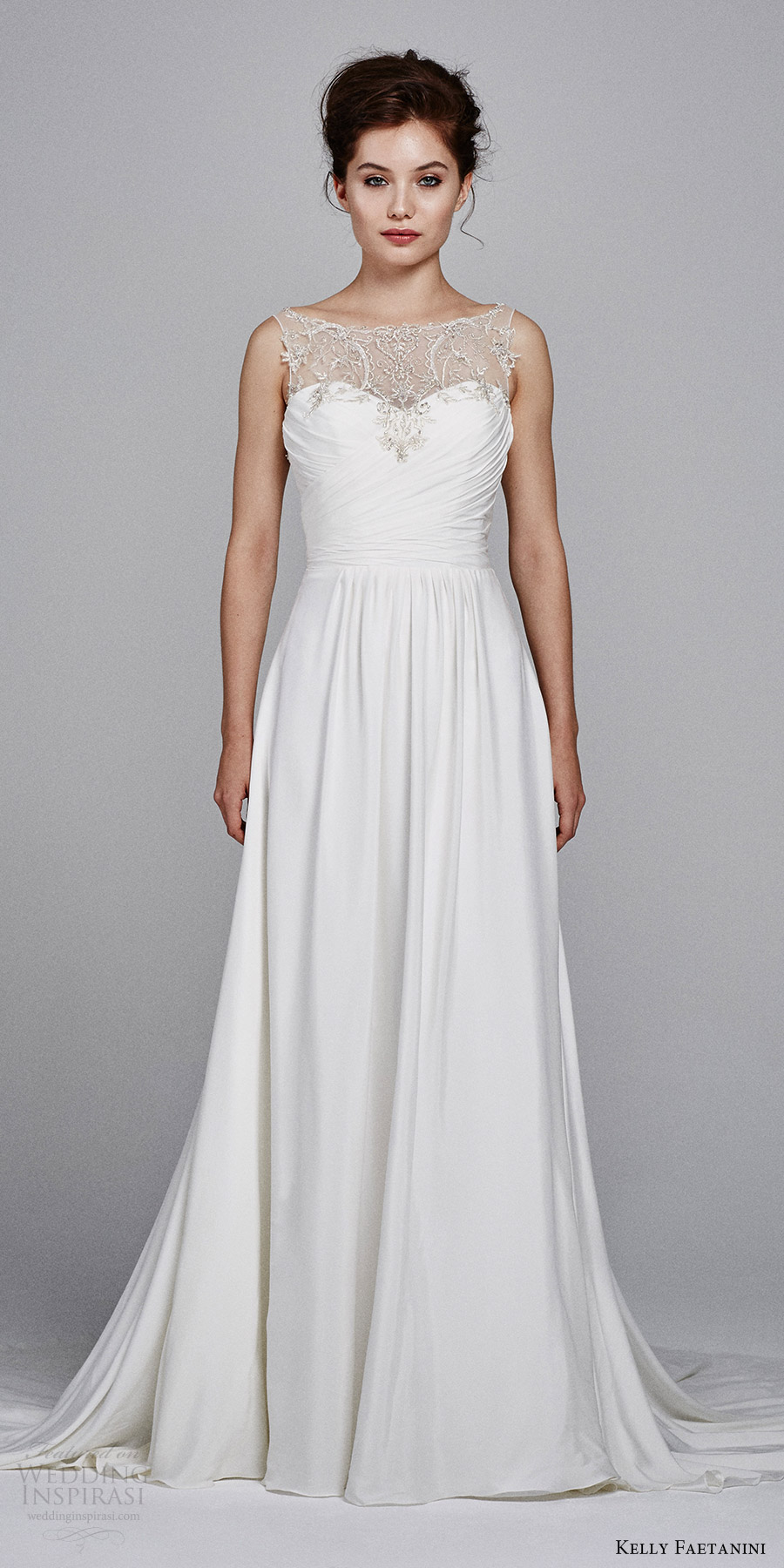 kelly faetanini bridal fall 2017 sleeveless illusion bateau sweetheart aline wedding dress (ren) mv