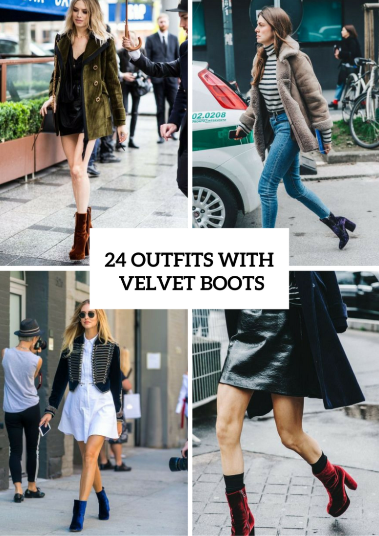 Awesome Outfits With Velvet Boots