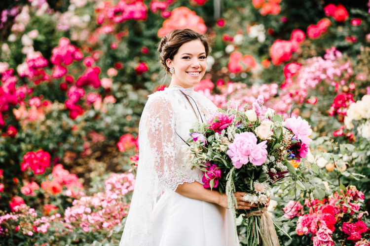 Bountiful bouquets and the garden design were planned and created by Fiore Florals
