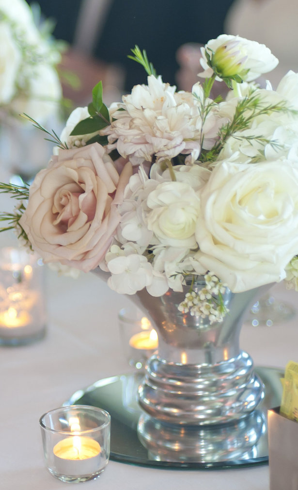 Blush Wedding Centerpiece - Tamytha Cameron Photography