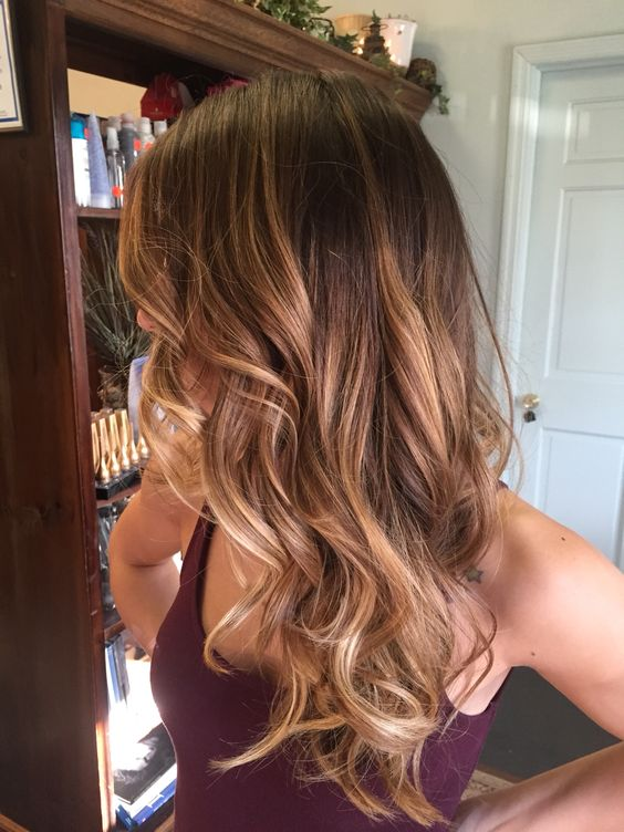 brown to caramel balayage hair