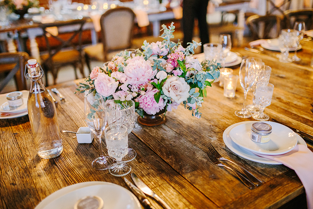 tablescape - photo by Priscila Valentina Photography http://ruffledblog.com/blush-pink-wedding-at-carondelet-house