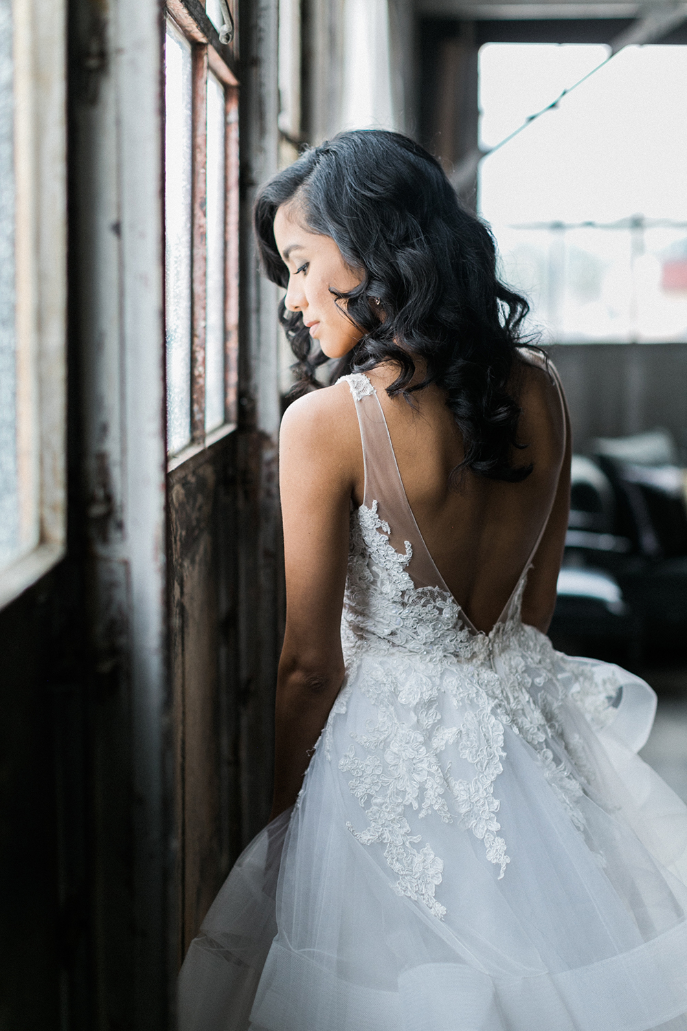 Industrial Glam Wedding Inspiration - photo by Alexis June Weddings http://ruffledblog.com/industrial-glam-wedding-inspiration