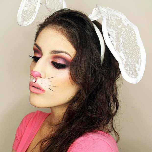 Cute Rabbit Halloween Makeup Look