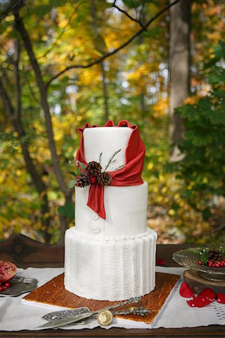 Forest wedding cake | SYPhotography