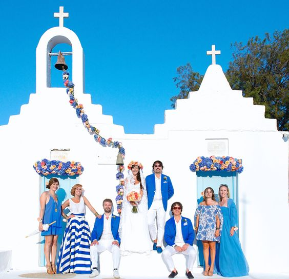 Mykonos island is another amazing place to get married with style