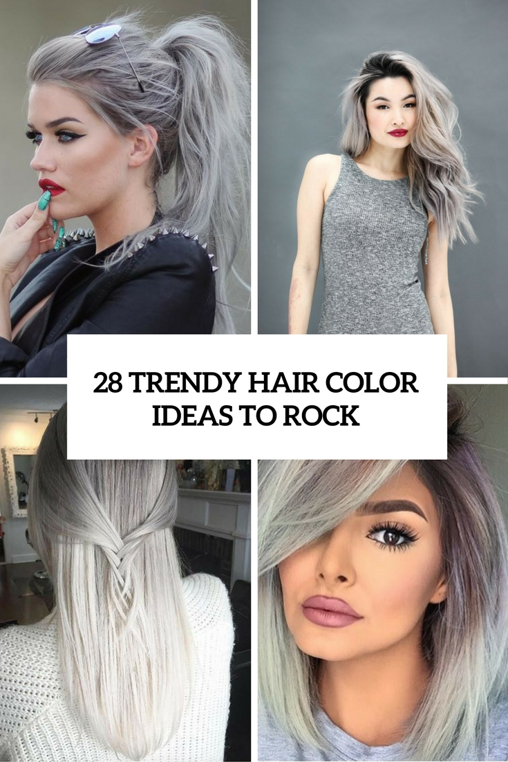 trendy grey hair color ideas to rock cover