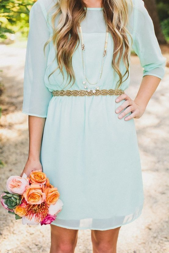 mint bridesmaid
