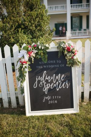 Wedding sign - Justin Wright Photography