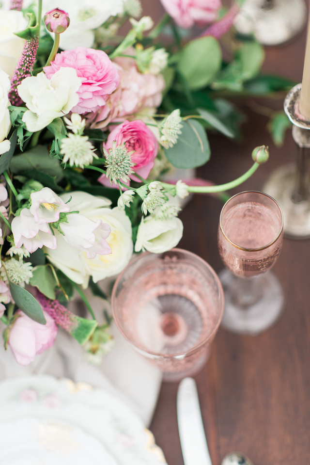 Pink place setting   Joy Michelle Photography