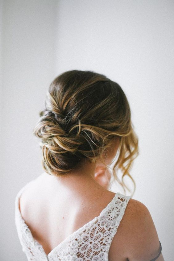 such an easy messy updo can be made by yourself and renovated when needed