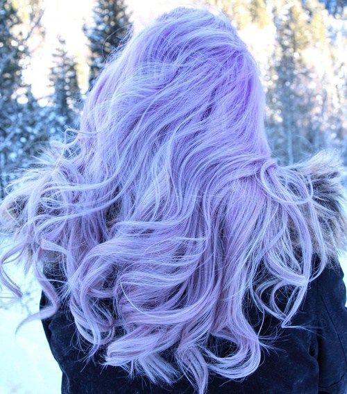 pastel purple hair to feel an ice queen