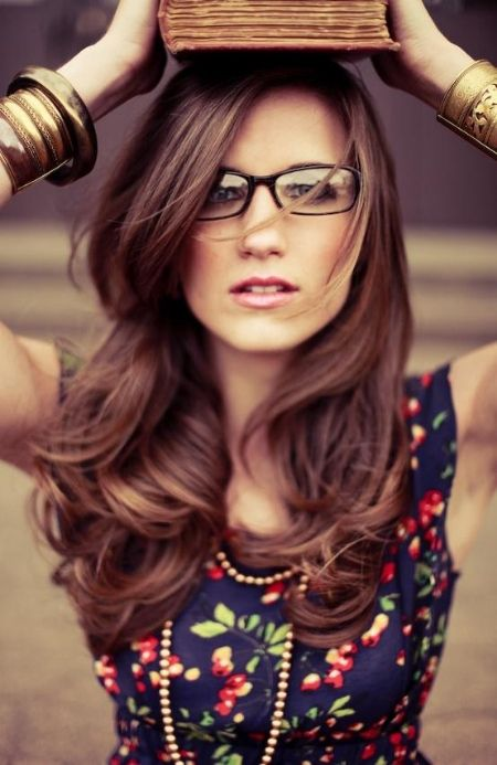 chestnut brown is gorgeous for long locks