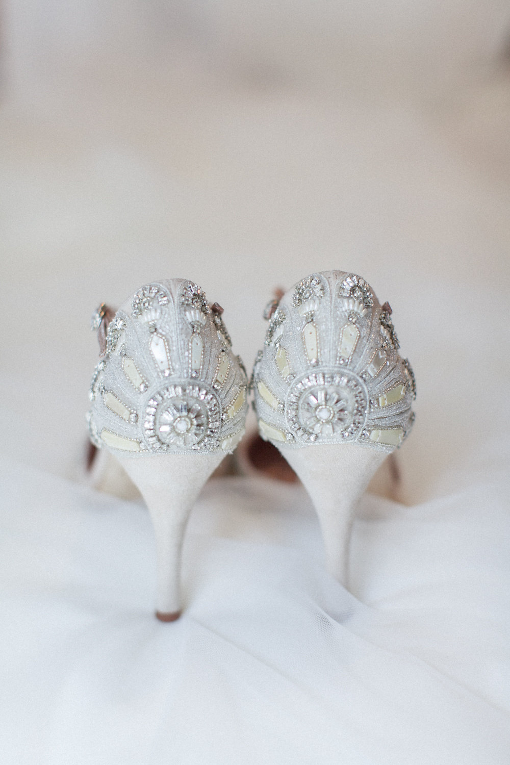 bejeweled wedding shoes - photo by Roberta Facchini Photography http://ruffledblog.com/herbarium-inspired-wedding-ideas