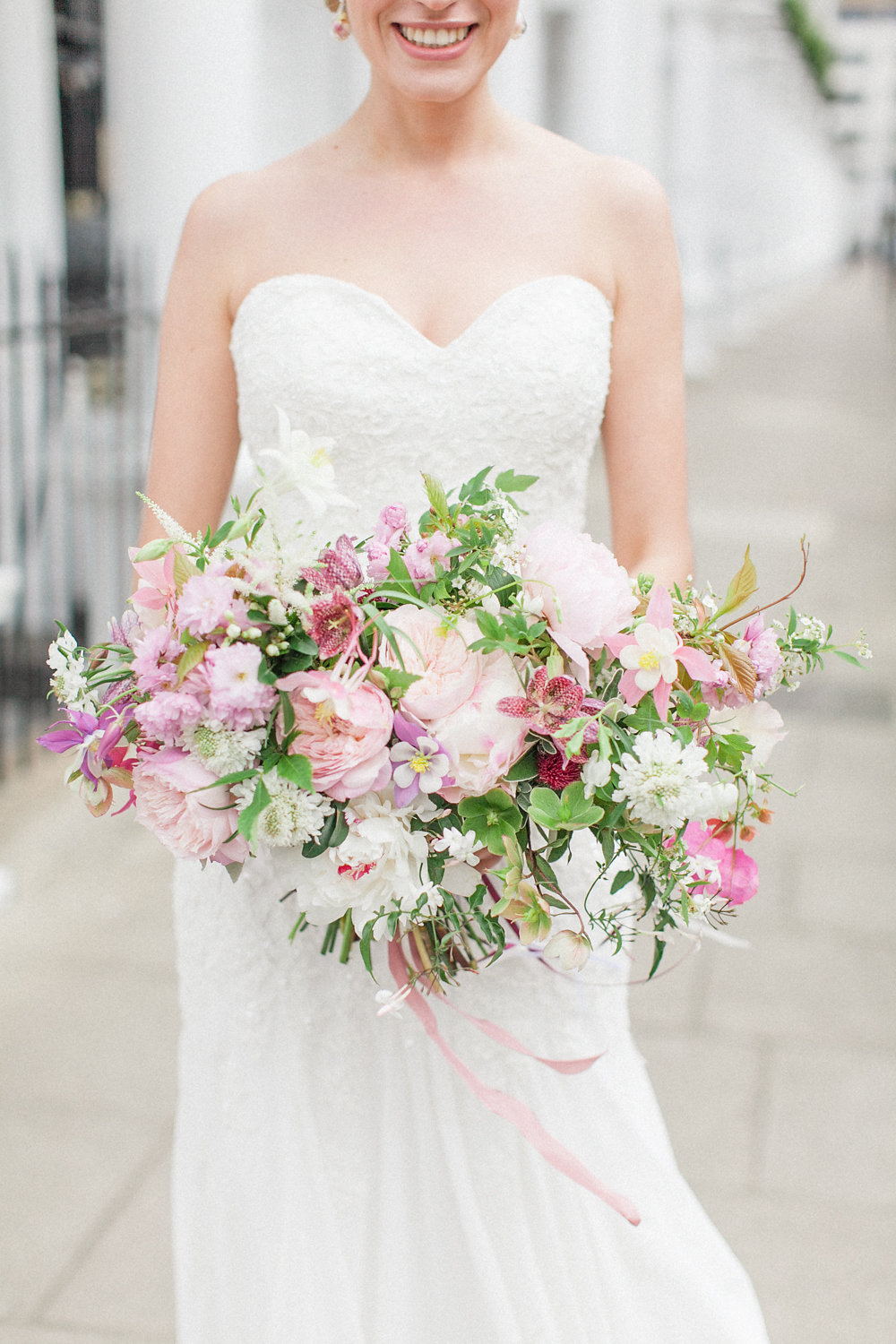 fresh pink bouquet - photo by Roberta Facchini Photography http://ruffledblog.com/herbarium-inspired-wedding-ideas
