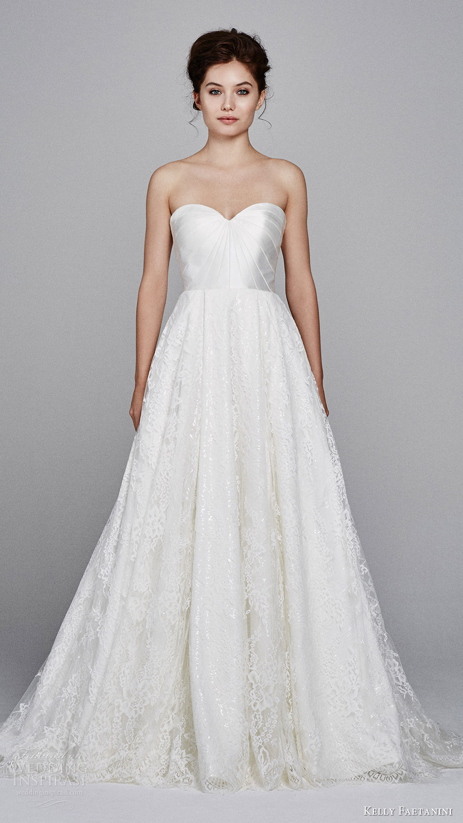 kelly faetanini fall 2017 strapless sweetheart mikado bodice aline lace wedding dress (aster) pockets mv