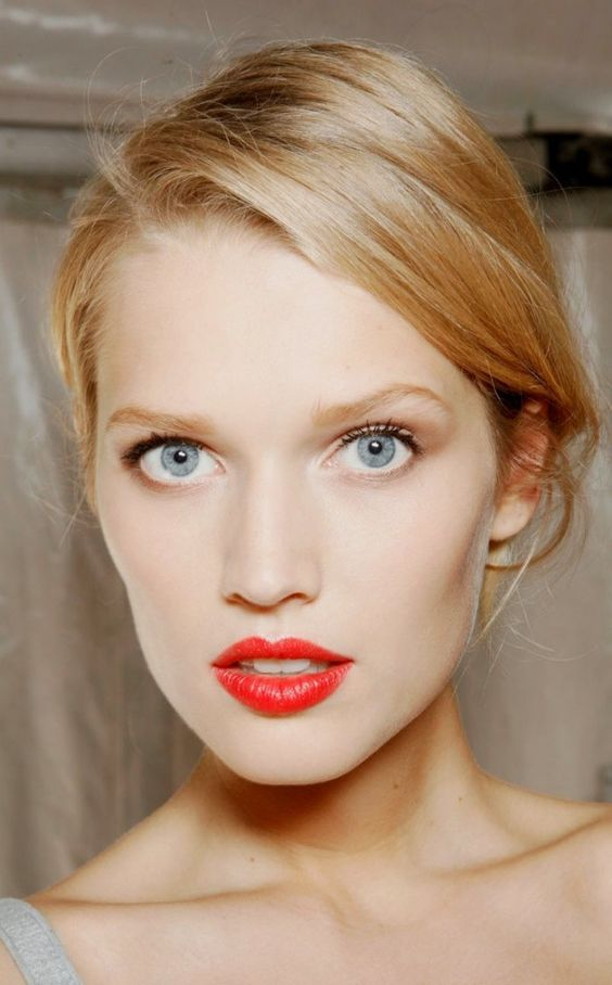 hot red lips for a cool complexion