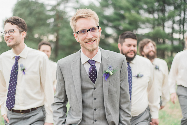 Groom's purple tie | Ashley Link Photography