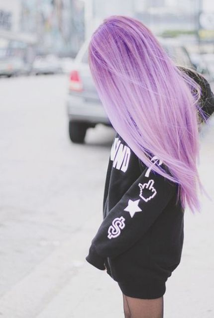 ombre imperial purple hair