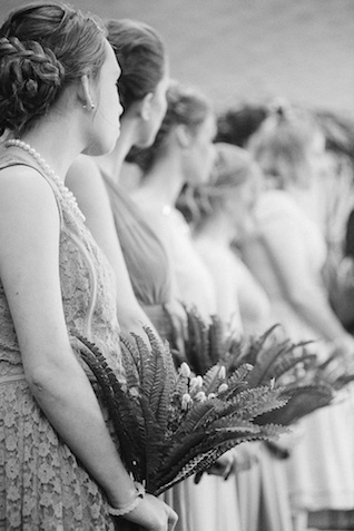 Bridesmaids during wedding ceremony | Ashley Link Photography