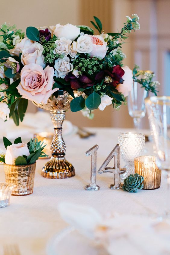 transparent acrylic table numbers easily fit any decor and look good