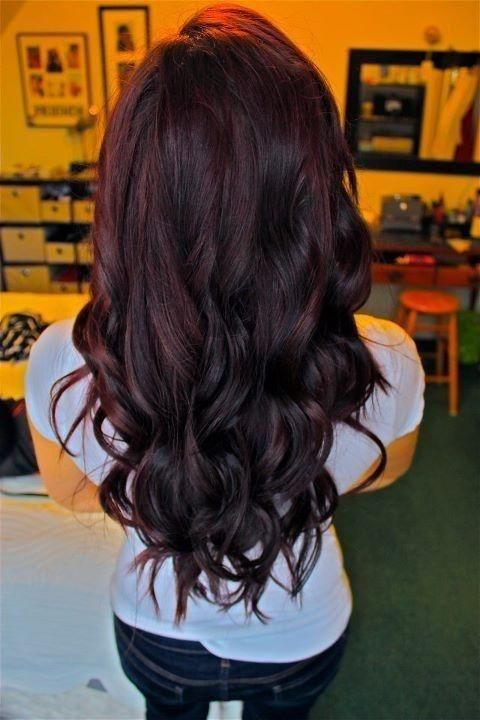 cherry coke hair with an ombre effect