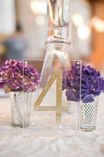 acrylic glitter table numbers seem to float in the air